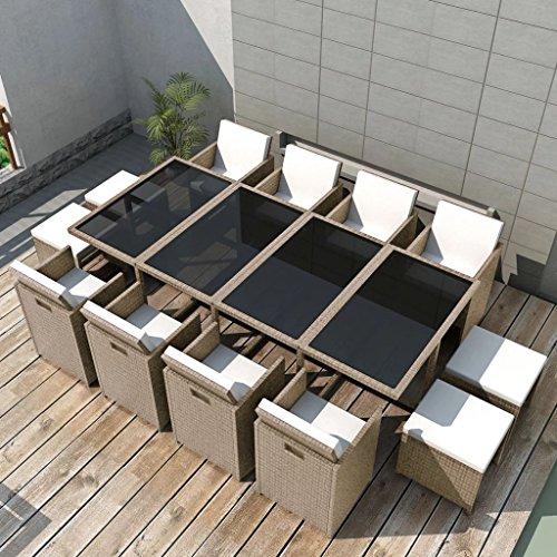 Tidyard Conjunto Muebles de Jardín de Ratán 33 Piezas con...