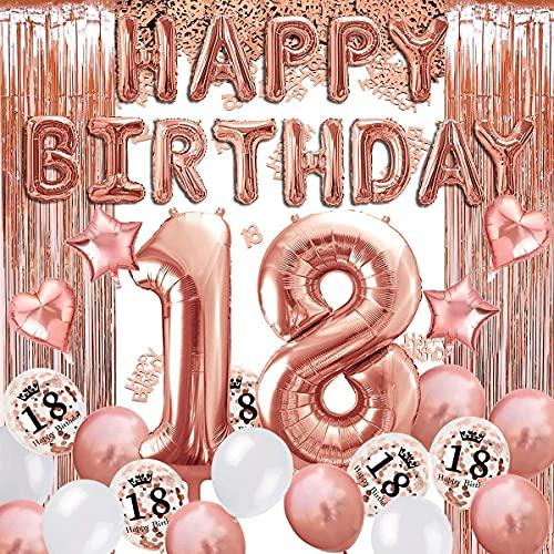18 Decoraciones De Cumpleaños 18 Años Globos de...