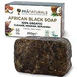 PraNaturals Jabón Negro Africano 200g,...