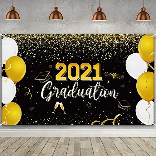 Bandera de Fiesta de 2021 Graduation, Telón de Fondo...