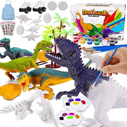 Magicfun Kit Pintura para Niños, Figuras Dinosaurios para...