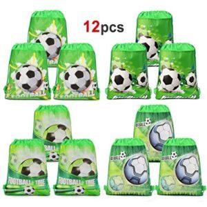 HOWAF 12 Piezas Bolsas con cordon de futbol Bolsa Regalo
